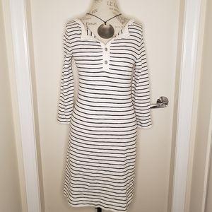 Banana Republic striped cocoon midi dress